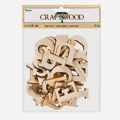Darice Craft Wood Wood Letter Uppercase 38mm X 41