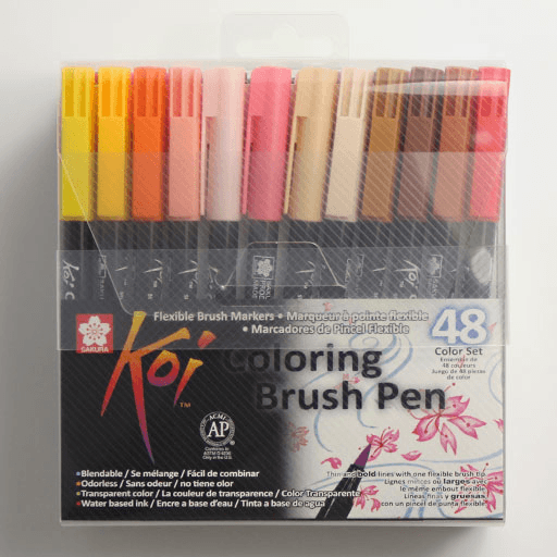 Overjoyed | Buy SAKURA Koi Coloring Brush Pen Set x 48 | FREE ...